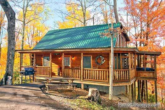Exterior Front View at Tucked Away - TUCKED AWAY - Gatlinburg - rentals