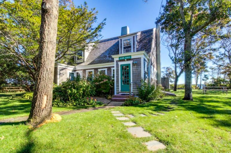 Dog-friendly home w/ lovely views, a huge yard & a private beach on the Sound! - Image 1 - Vineyard Haven - rentals