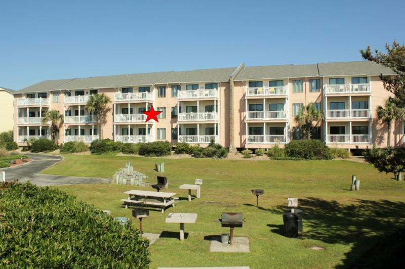 Exterior Oceanfront Building D - Pebble Beach D-203-SAT 3BR - Emerald Isle - rentals