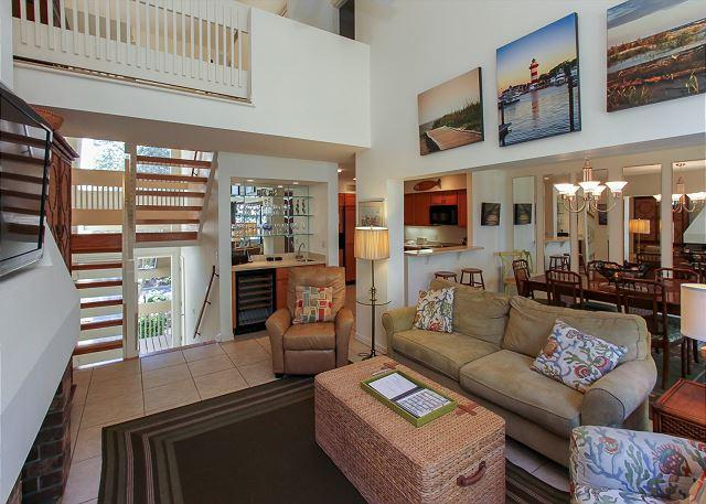 2nd Floor Living Area - 1468 Sound Villas- Quick Walk to the Beach & South Beach Marina. - Hilton Head - rentals