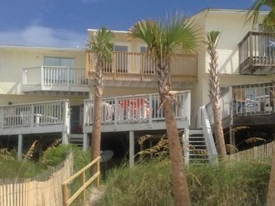 RIGHT on BEACH two level TOWNHOME no body above or below/fenced in back Yard/private decks/ - REAL DEAL  Villa PETS - Panama City Beach - rentals