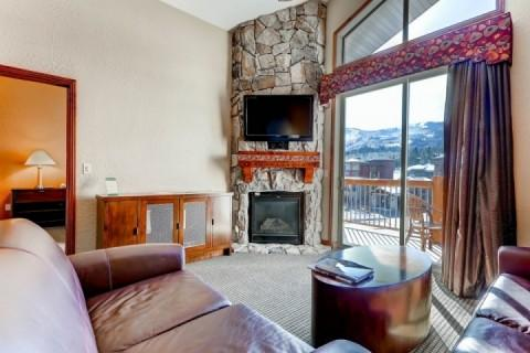 Living room is equipped with gas fireplace, 42