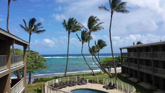 Direct oceanfront view! - Kauai Oceanfront 2+ Bedroom Condo Vacation Rental $169/night flat NO OTHER FEES! - Kapaa - rentals