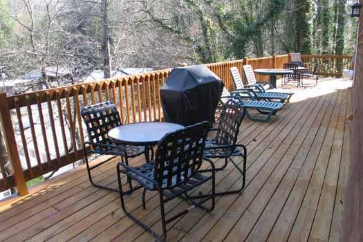 Deck with Grill at Windhover - WINDHOVER - Gatlinburg - rentals