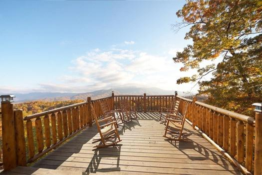 Deck with Rockers at Perfection! - PERFECTION! - Gatlinburg - rentals