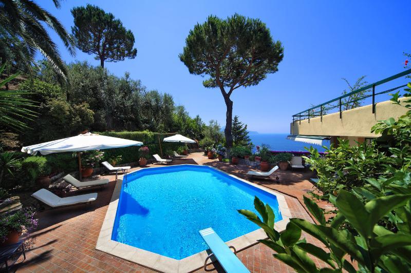 Sorrento Peninsula Villa with Island Views and Pool - Villa Catone - Image 1 - Massa Lubrense - rentals