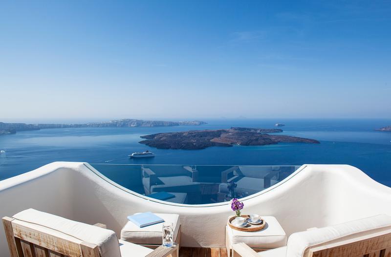 Santorini Villa with Jacuzzi and Views - Villa Imerovigli - Image 1 - Imerovigli - rentals