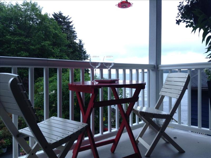 Front deck offers ocean and garden view, and frequent humming bird visits! - Alaska Seaside Cottage - Sitka - rentals