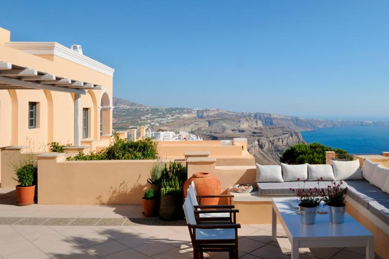 Santorini Villa with Guest Houses and Gorgeous Views - Villa Medusa - Image 1 - Fira - rentals