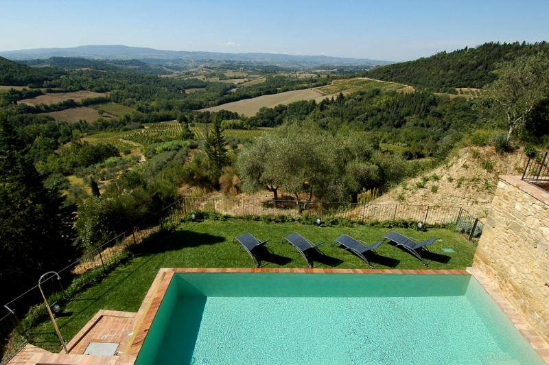 Large Luxury Villa Rental in the Chianti with Spectacular Views - Villa Liona - Image 1 - Barberino Val d'Elsa - rentals