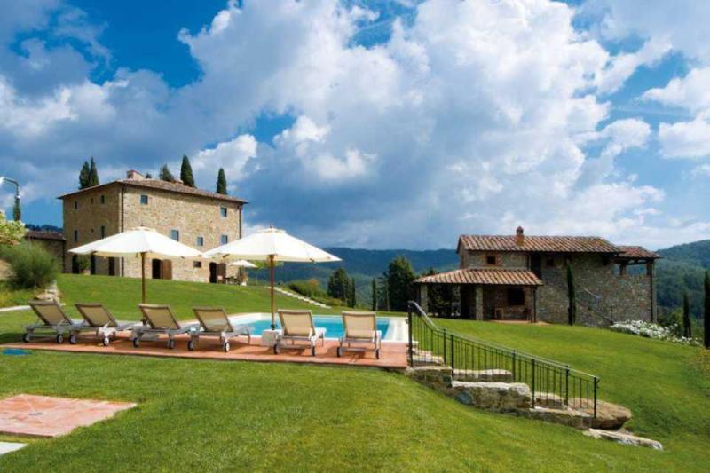 Large Villa with Pool and Guest House in Chianti - Villa Mora with Guest House - Image 1 - Ambra - rentals