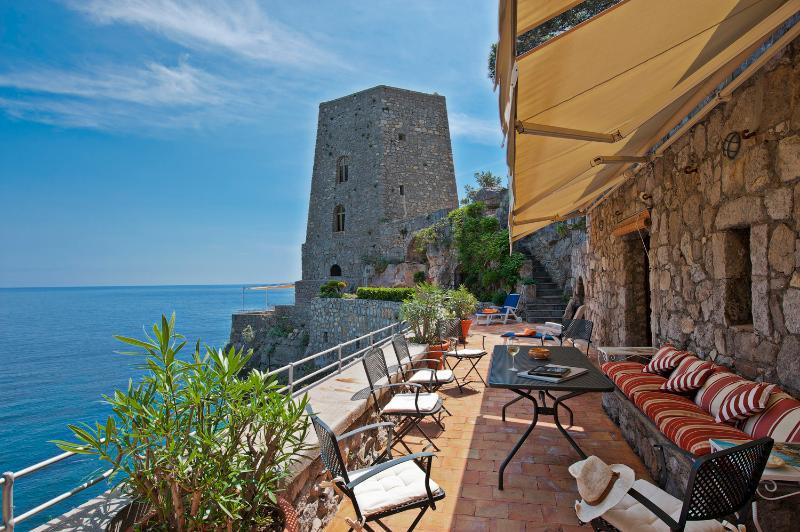 Historic Beachfront Villa with Gorgeous Views Near Positano   - Torre Mare - Image 1 - Positano - rentals