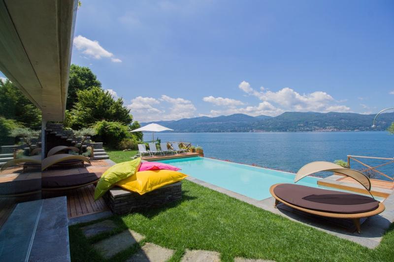 Lake Maggiore Villa with Private Beach - Villa Lia - Image 1 - Ispra - rentals