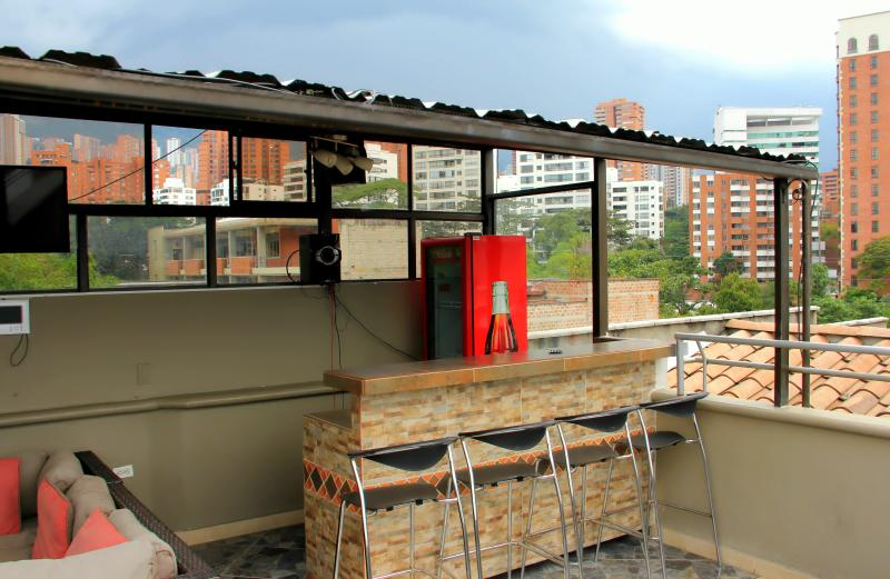 Top Floor Penthouse roof deck AC and Bar - Image 1 - Medellin - rentals