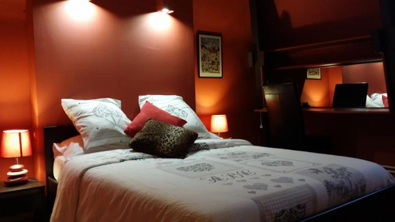 Bedroom 2 - bed 140cm - 2 bedrooms Appart for rental - sarlat- Dordogne - Sarlat-La-Caneda - rentals