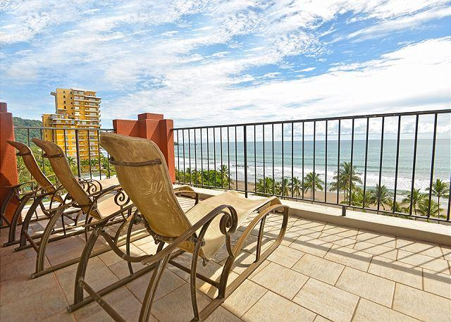 View from The Balcony at the Second Floor. - Luxury and Location: Vista Mar Beach Front Penthouse at Cocal Hotel & Casino! - Jaco - rentals