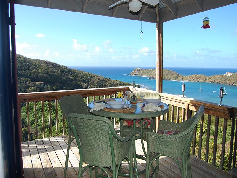 View of Fish Bay and Caribbean Sea - Sundancer Villa - Fish Bay - rentals