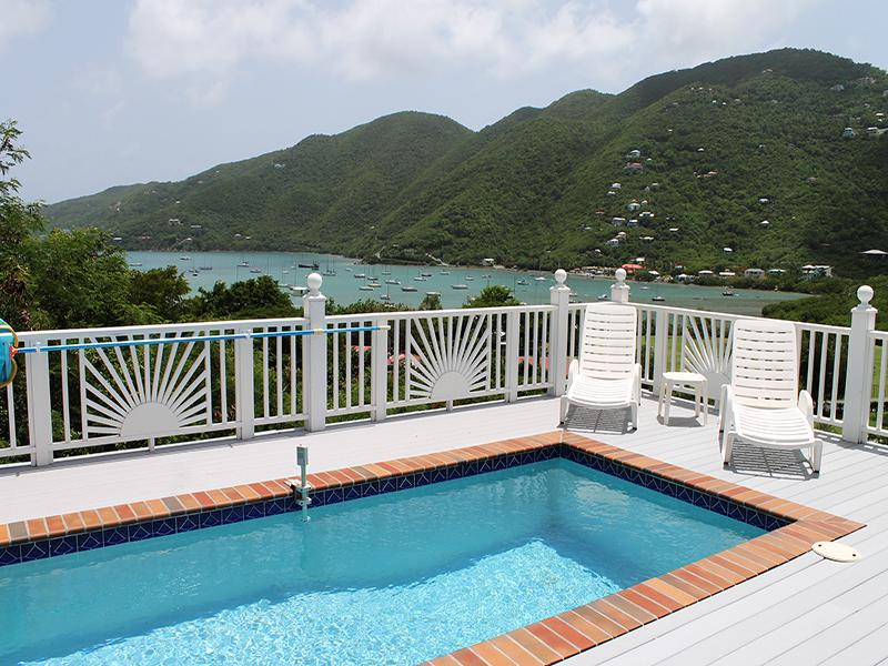 View of Coral Harbor from pool deck - Villa Jumbie - Coral Bay - rentals