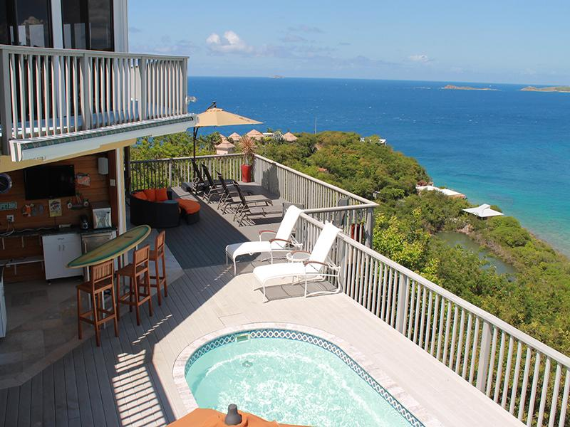 Beautiful pool villa overlooking the Caribbean Sea - Villa Serendipity - Chocolate Hole - rentals