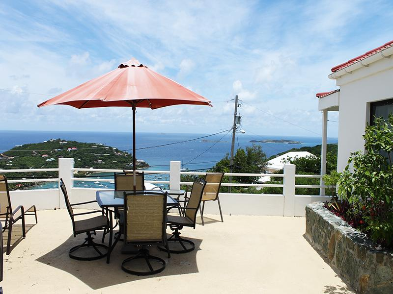 Sunset Ridge Villa E private Courtyard views - Sunset Ridge Villa E - Cruz Bay - rentals