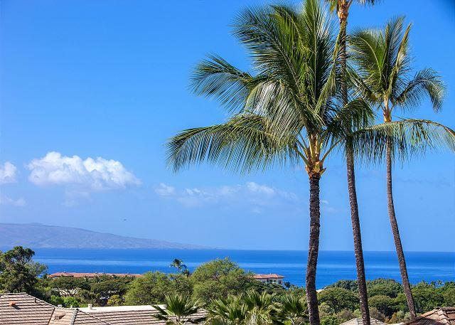 Ocean view from unit #48 - Grand Champions #48 is a 2bd 2ba Ocean View condo that Sleeps 6 Great Rates! - Wailea - rentals