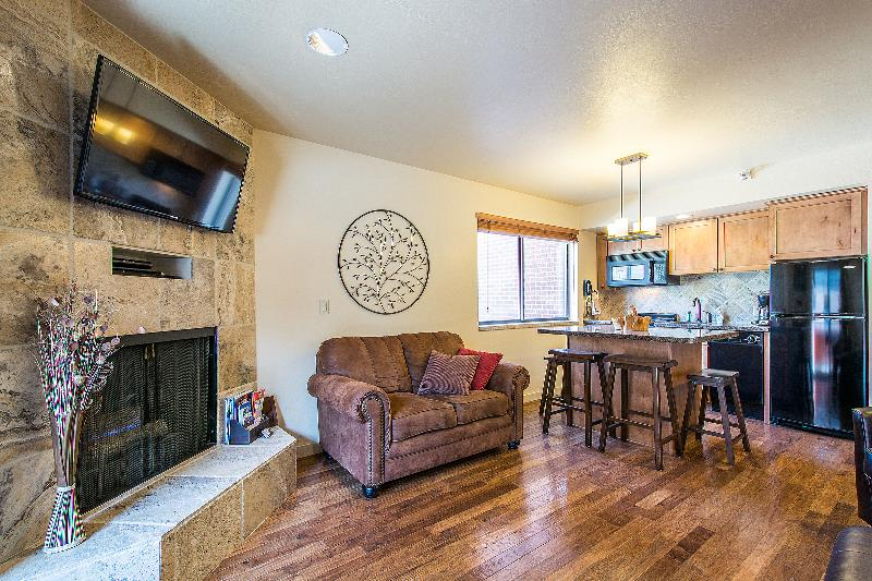 Cozy Living space with Fireplace and HDTV - 1BR/2BA SKI-IN/SKI-OUT w SLOPESIDE MOUNTAIN VIEW! - Park City - rentals
