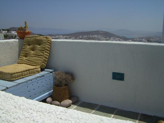 view from the balcony - MIMALLIS TRADITIONAL HOUSE (ANOI HOUSE) - Milos - rentals