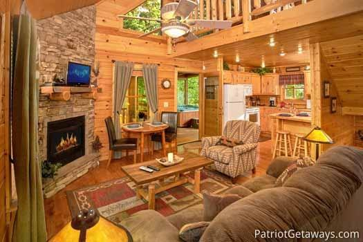 Living Room at Gentleman Jack's - GENTLEMAN JACK'S - Gatlinburg - rentals