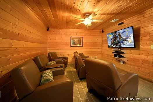 Home Theater at Black Bear Lodge - BLACK BEAR LODGE - Pigeon Forge - rentals