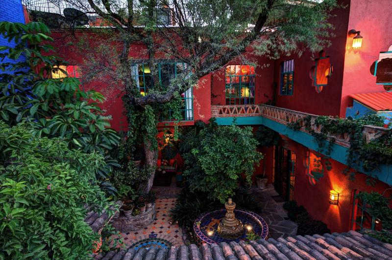 "Nice view from Terrazza of the upstairs ""Tree House Suite"" and lower Fountain Suite. - Casa del Alma Will Lift Your Spirits - San Miguel de Allende - rentals"