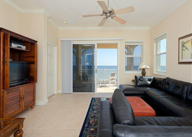 Host movie night for the whole family - Cinnamon Beach 845, 4th Floor Ocean Front, Corner Condo, HDTV, Sweeping Views - Palm Coast - rentals