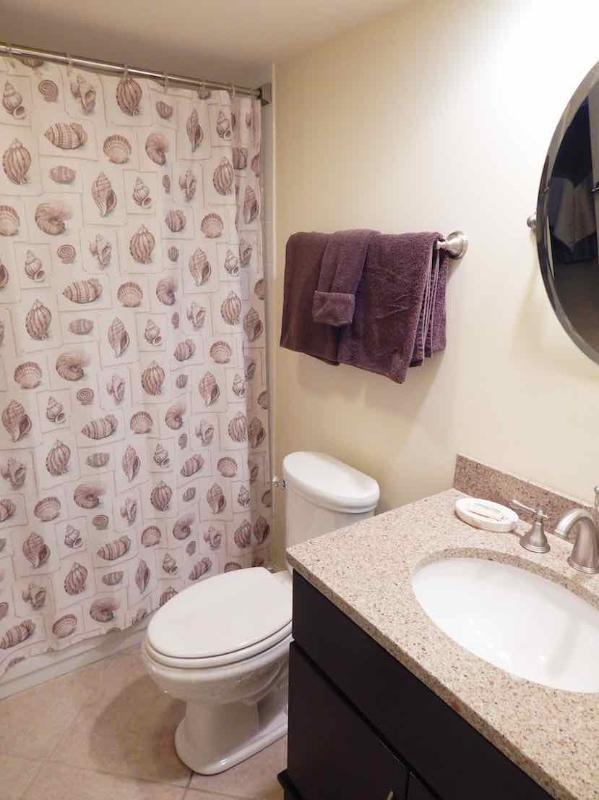 Guest Bathroom - Gulfside Small Garden Unit Q - Siesta Key - rentals
