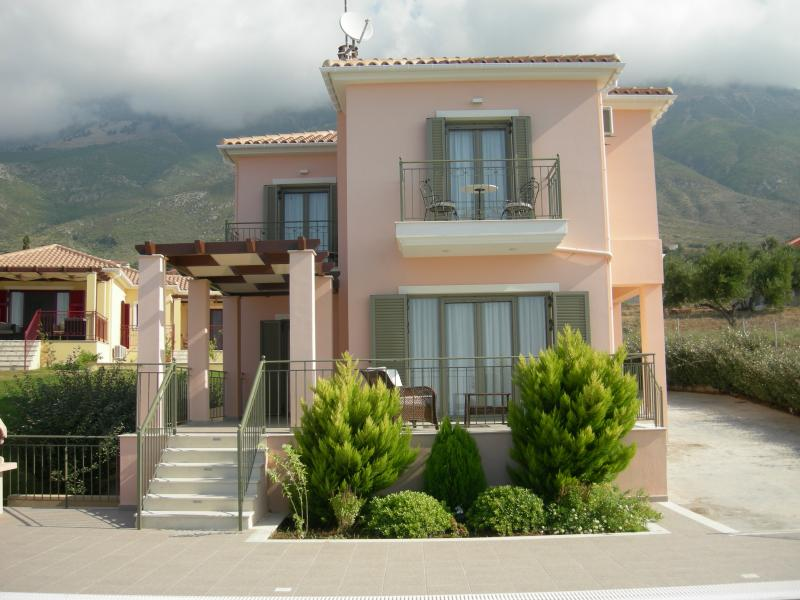 Villa Penelope front view - Luxury Villa Penelope With Private Pool & Sea View - Cephalonia - rentals