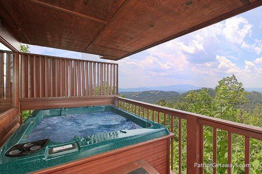 Hot Tub at All About The View - ALL ABOUT THE VIEW - Pigeon Forge - rentals