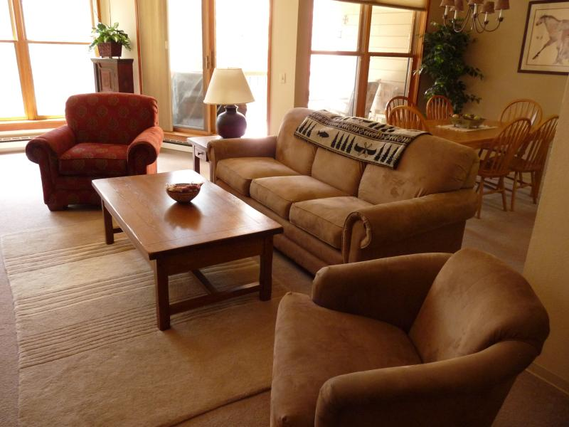 Our spacious living room - Beautiful, Spacious and Updated 2-bedroom condo - Keystone - rentals