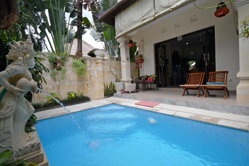 Your private veranda and plunge pool - Divine! Villa on Bisma, Ubud center 1 bedroom - Ubud - rentals
