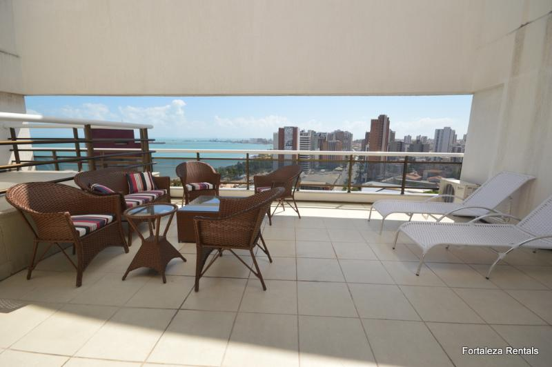 Terrace - 3 bedroom luxury penthouse apartment on Beira Mar - Fortaleza - rentals