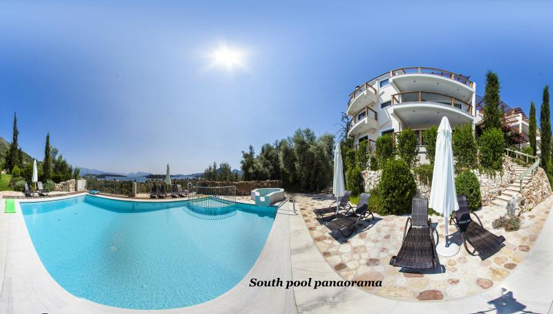 Blue sky with Sun and Pool with Seaview - Two bedrooms -  Luxury Residences -Princes'Islands - Nidri - rentals