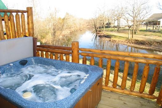 Hot Tub at Gone Fishin' - GONE FISHIN' - Pigeon Forge - rentals