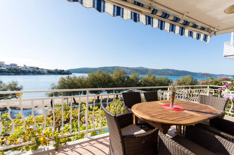 Beachfront apartment- big private terrace   - NEW(2015) LUXURY BEACHFRONT APARTMENT 3 BEDROOMS - Trogir - rentals