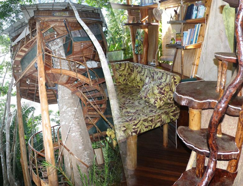 6 Level Treehouse Sleeps 8 comfortably, each bedroom on seperate levels and private as a treehouse - 30% OFF/Treehouse/Sleeps 2-8/Ocean/Pool/King-Queen - Puerto Jimenez - rentals