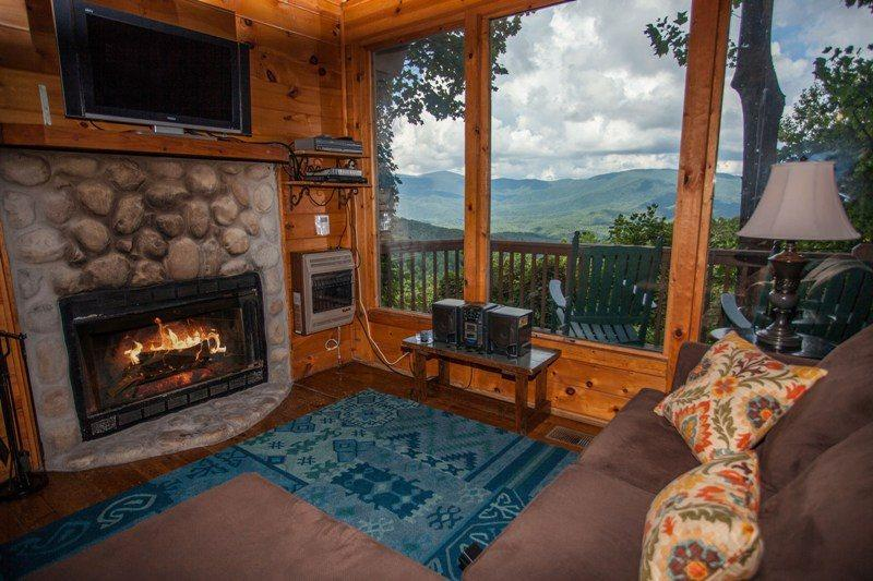 Wonderful view of the North Georgia Mountains, right from the living room - Coyote Bluff - Wall of Glass Overlooking the North Georgia Mountains! Newly - Chatsworth - rentals