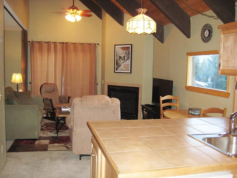 Living Room from Kitchen - Mammoth View Villas - MVV15 - Mammoth Lakes - rentals