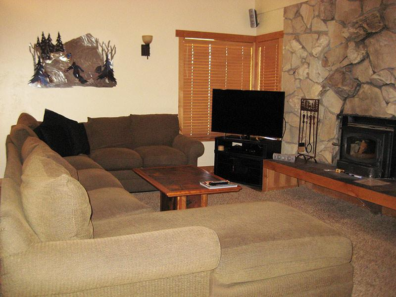 Living Room and Flat Screen TV - Fireside at the Village - MF312 - Mammoth Lakes - rentals