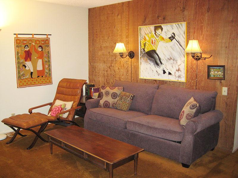 Living Room - Fireside at the Village - MF111 - Mammoth Lakes - rentals