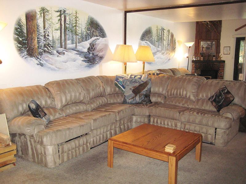 Living Room - La Vista Blanc - LVB06 - Mammoth Lakes - rentals