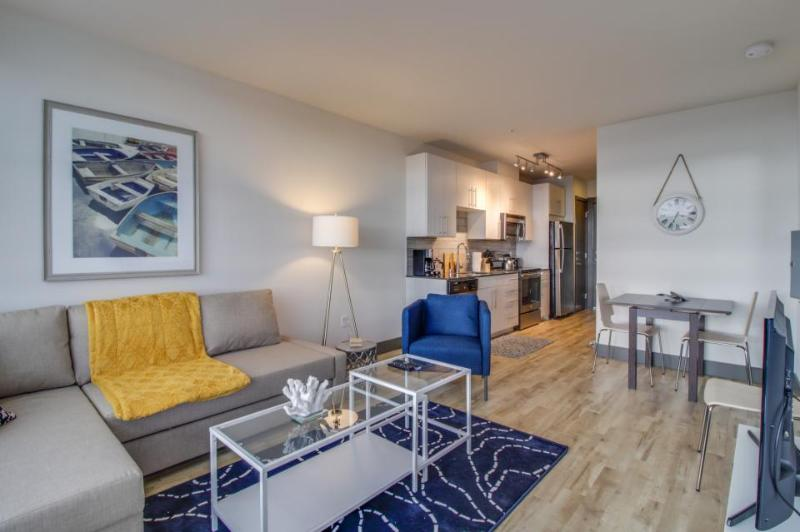 Stylish, dog-friendly condo with a private balcony & Puget Sound views! - Image 1 - Seattle - rentals