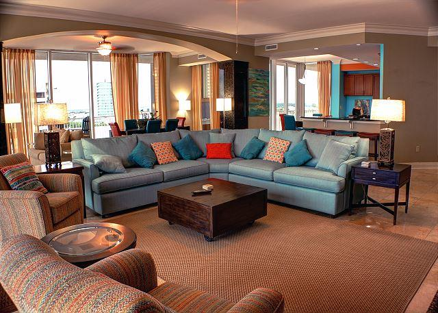 Living Room - Mediterranean at Perdido Key - Reduced Rates for March - Ask About FREE Night - Pensacola - rentals