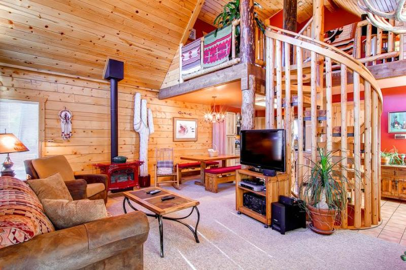3 BR/2.5 BA, unique private log cabin home for 8, private hot tub, pets friendly - Image 1 - Dillon - rentals