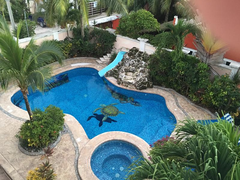 Private and Secluded Hand tiled Pool w/waterslide & Hot Tub - Kokopelli's Garden - Puerto Morelos - rentals